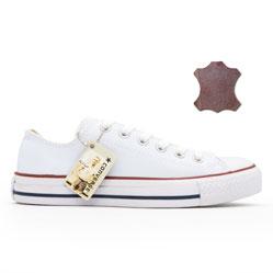 Converse кожаные низкие белые