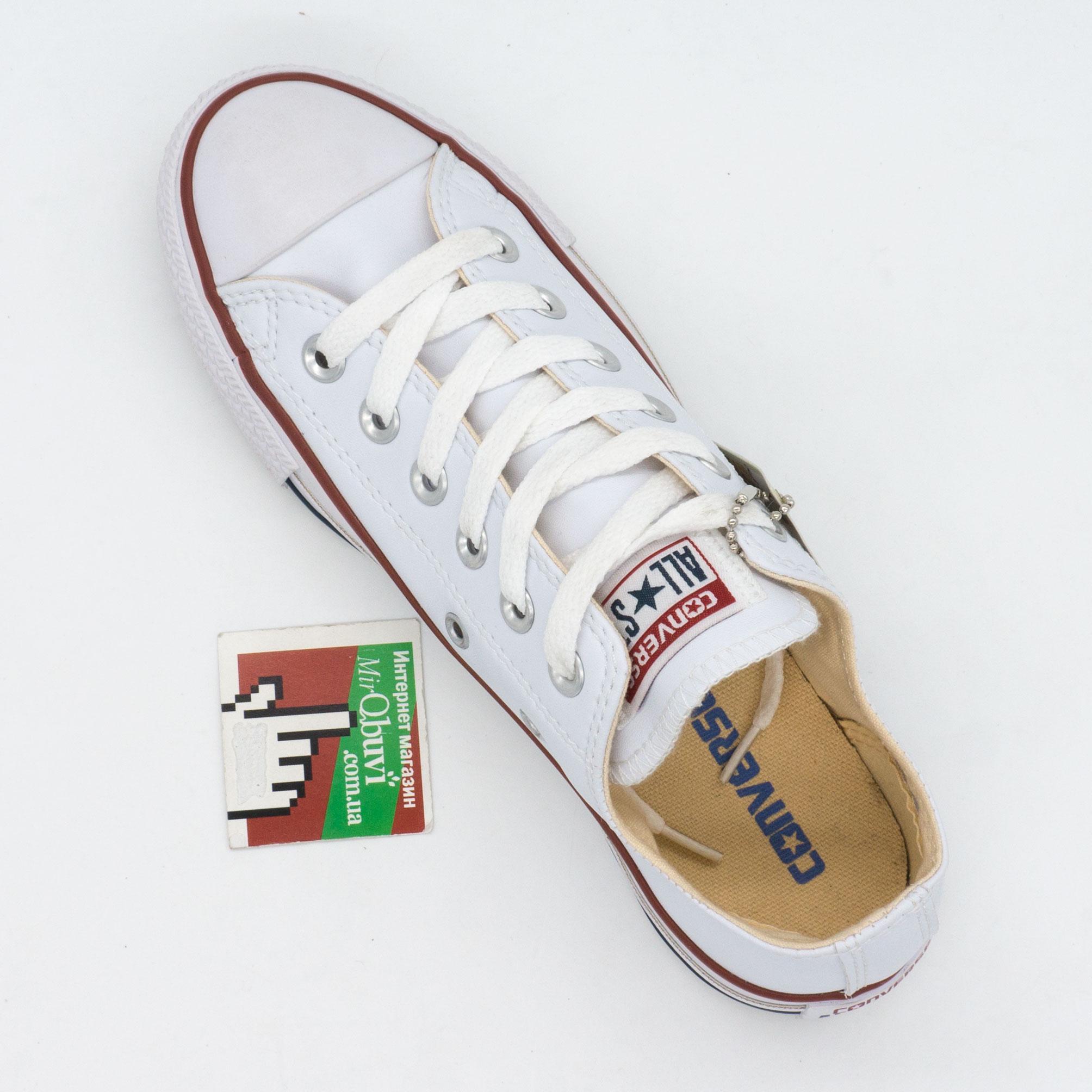 большое фото №5 Кеды Converse кожаные низкие белые