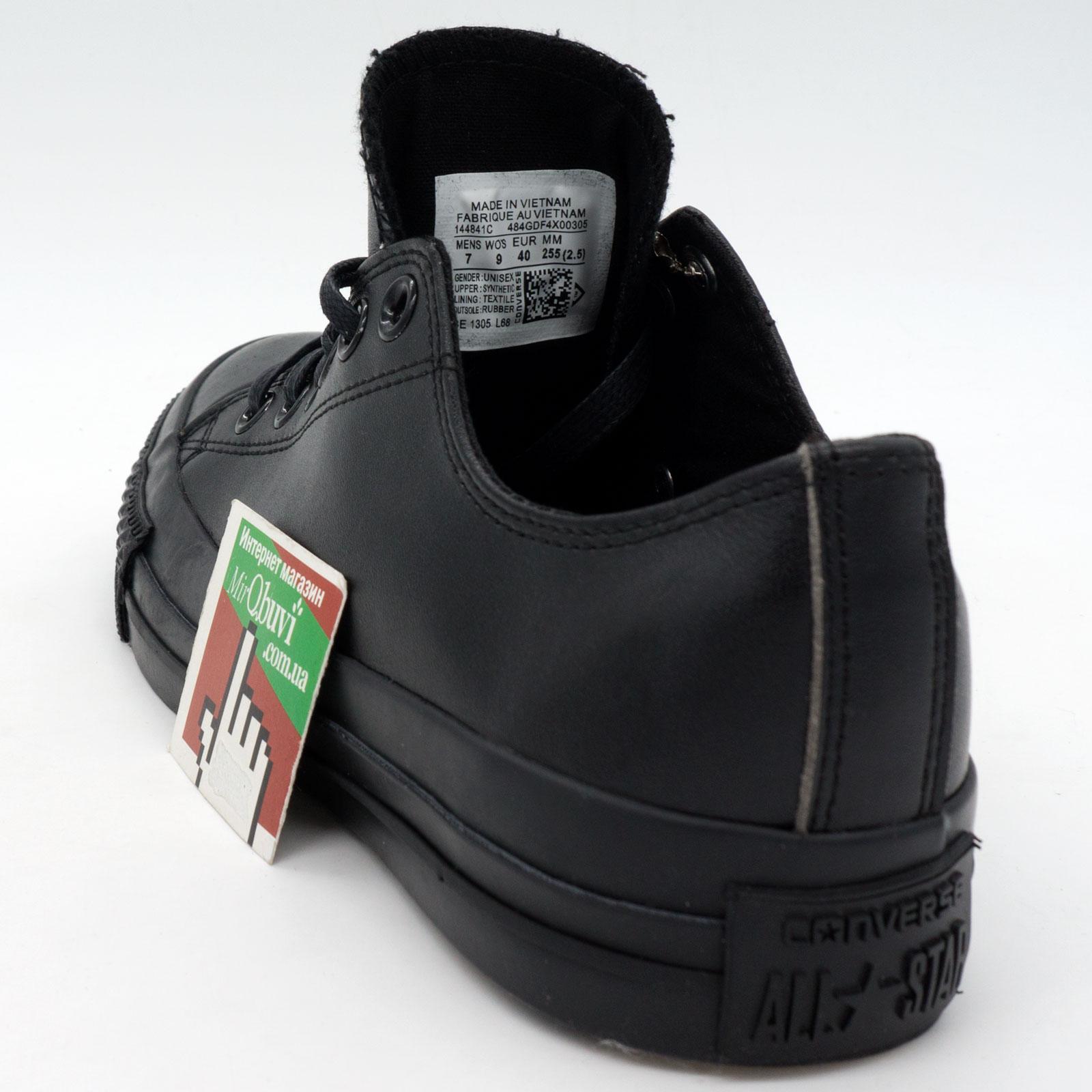 фото back Кеды Converse кожаные низкие полностью черные back