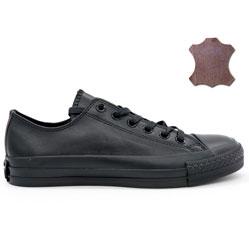 Converse кожаные низкие полностью черные