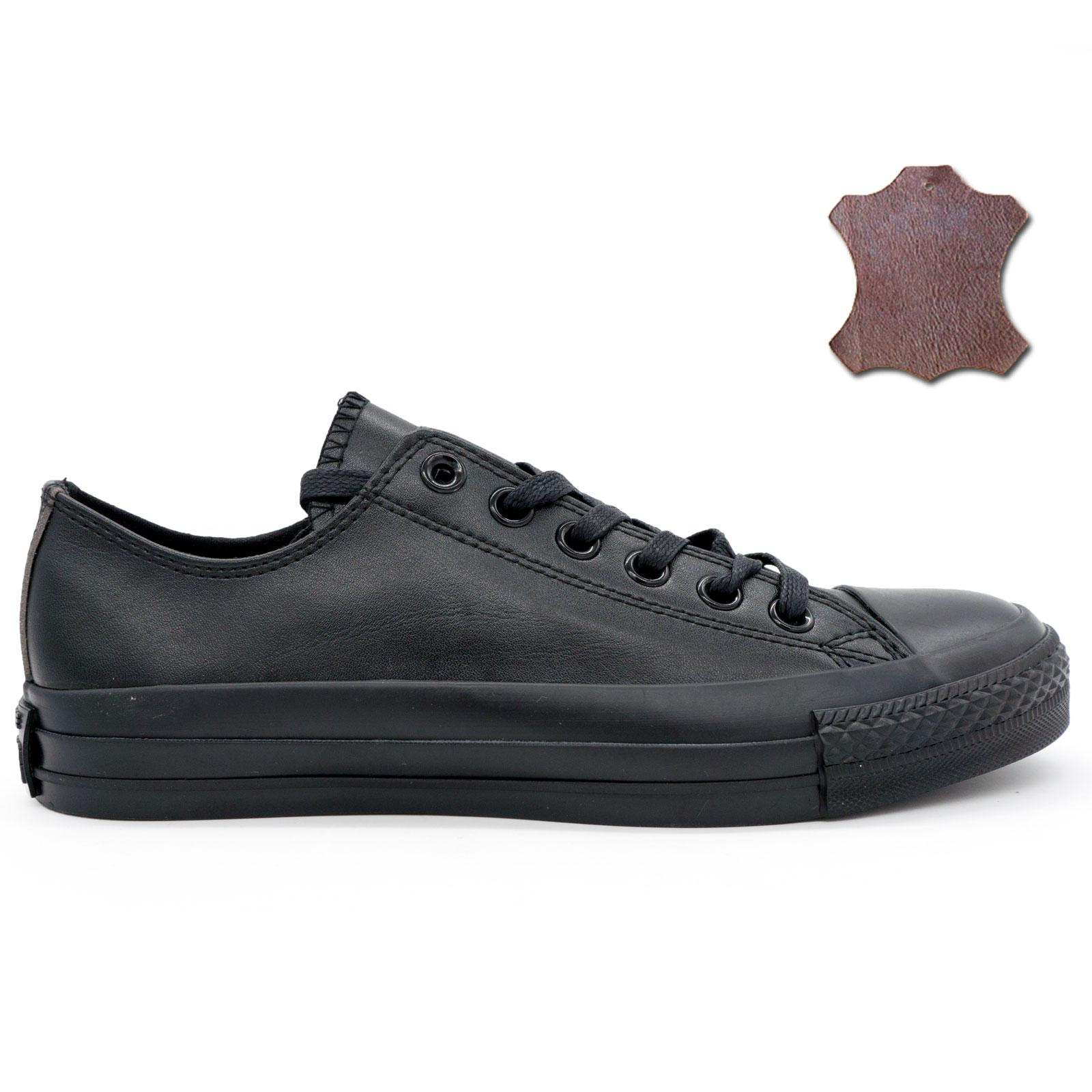 фото main Кеды Converse кожаные низкие полностью черные main