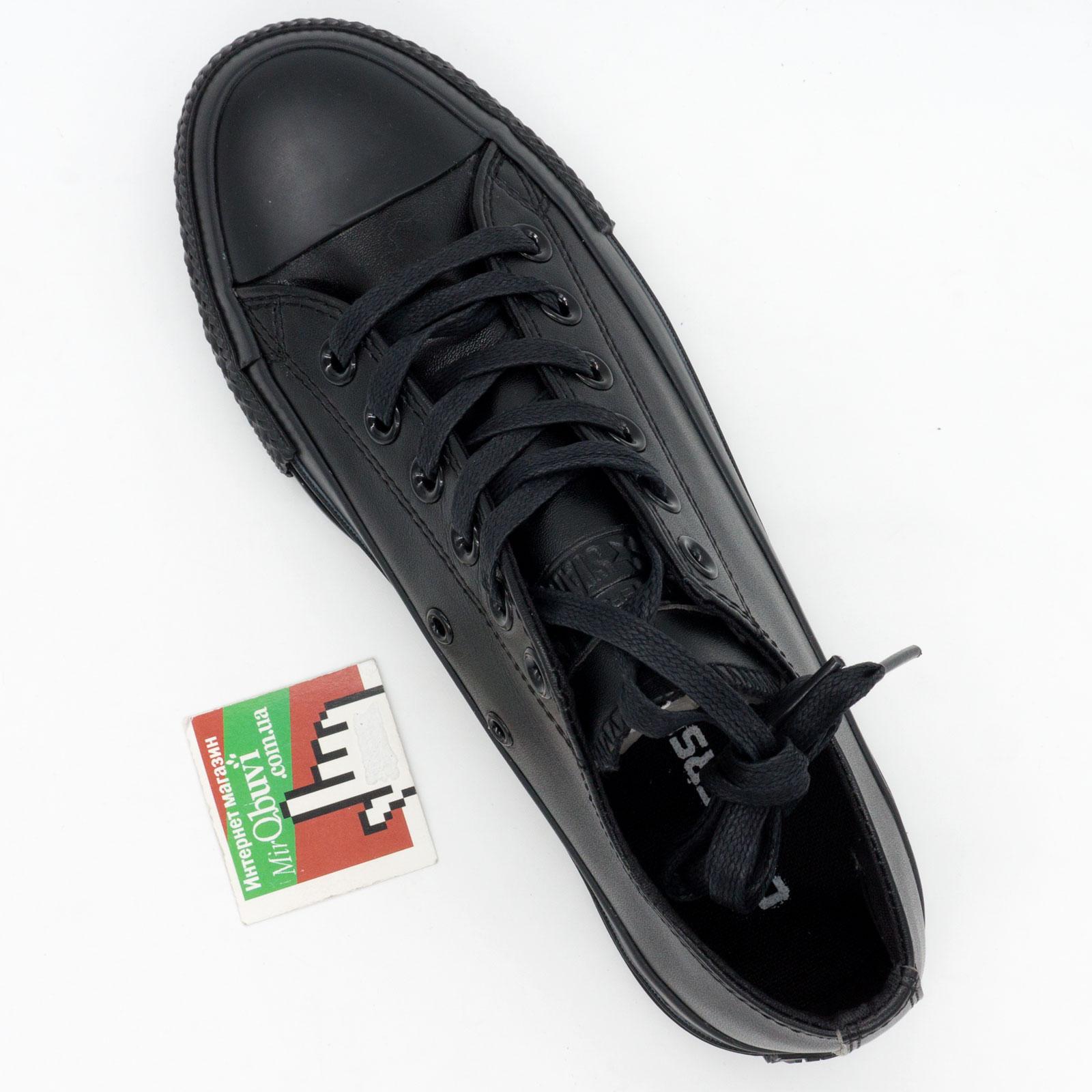 большое фото №5 Кеды Converse кожаные низкие полностью черные