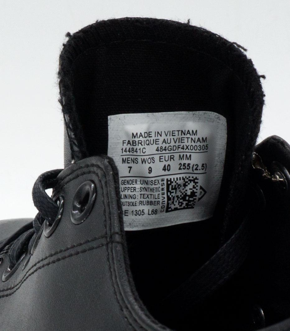 большое фото №6 Кеды Converse кожаные низкие полностью черные