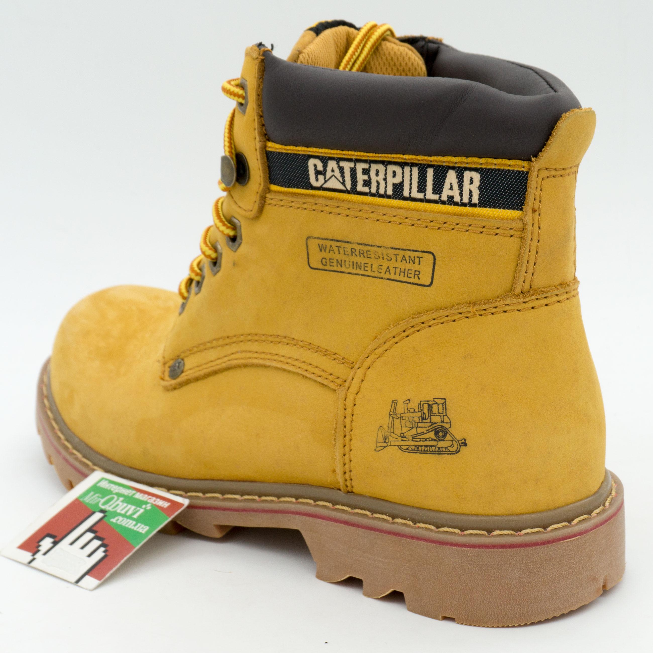 фото front Желтые ботинки CAT (Катерпиллер) front