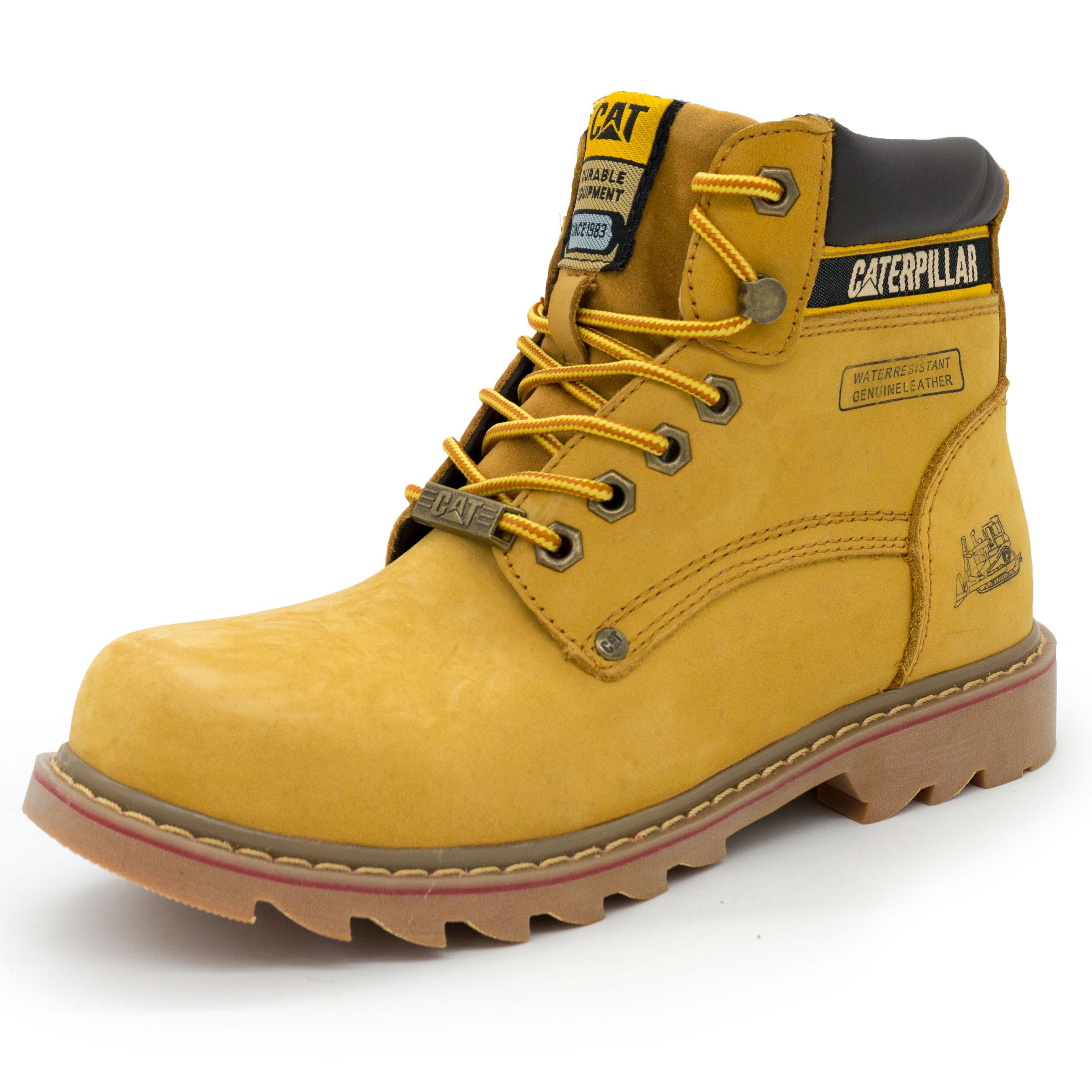 6c48a9bd3 Желтые ботинки CAT, купить ботинки Катерпиллер в интернет магазине ...