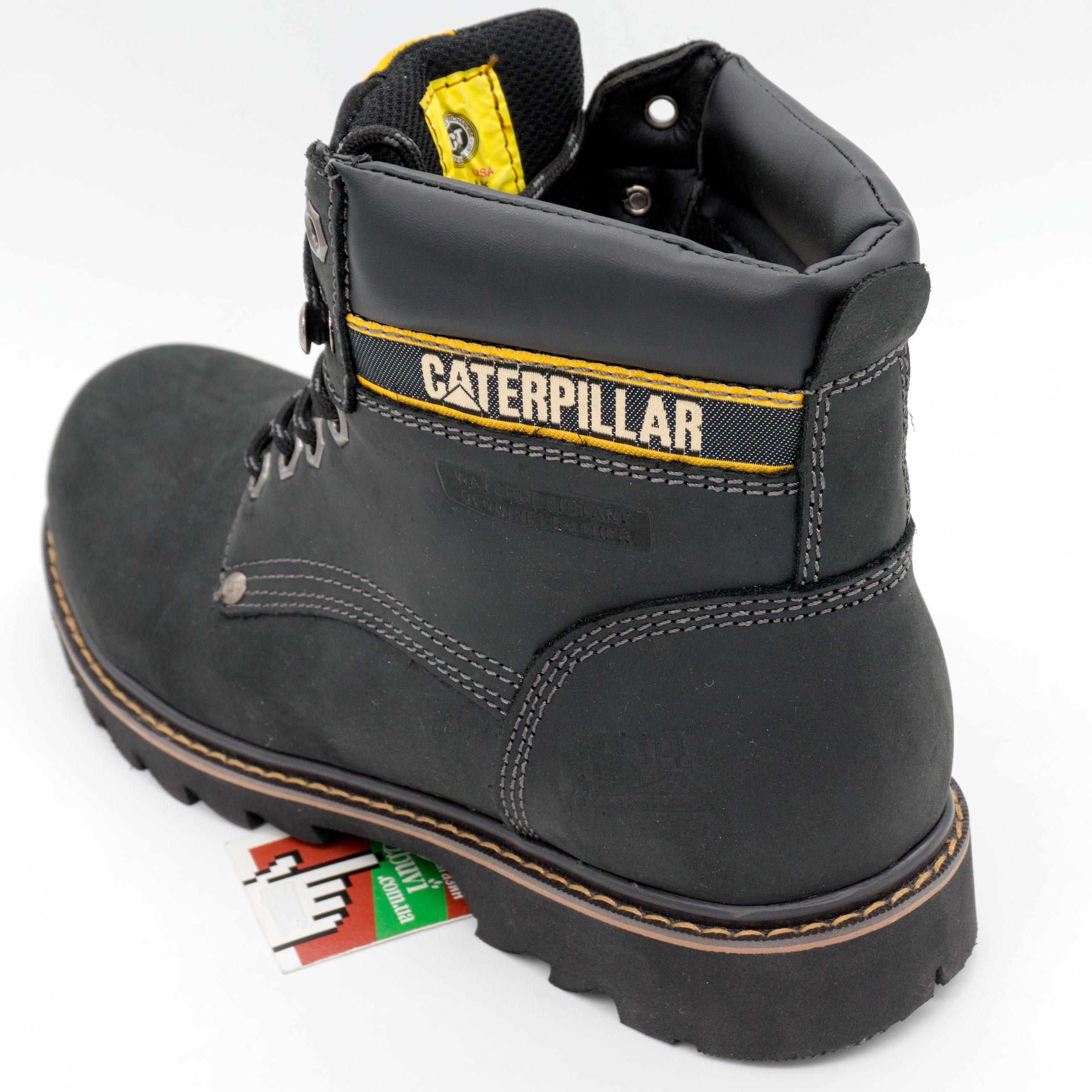 фото back Черные ботинки CAT (Катерпиллер) back