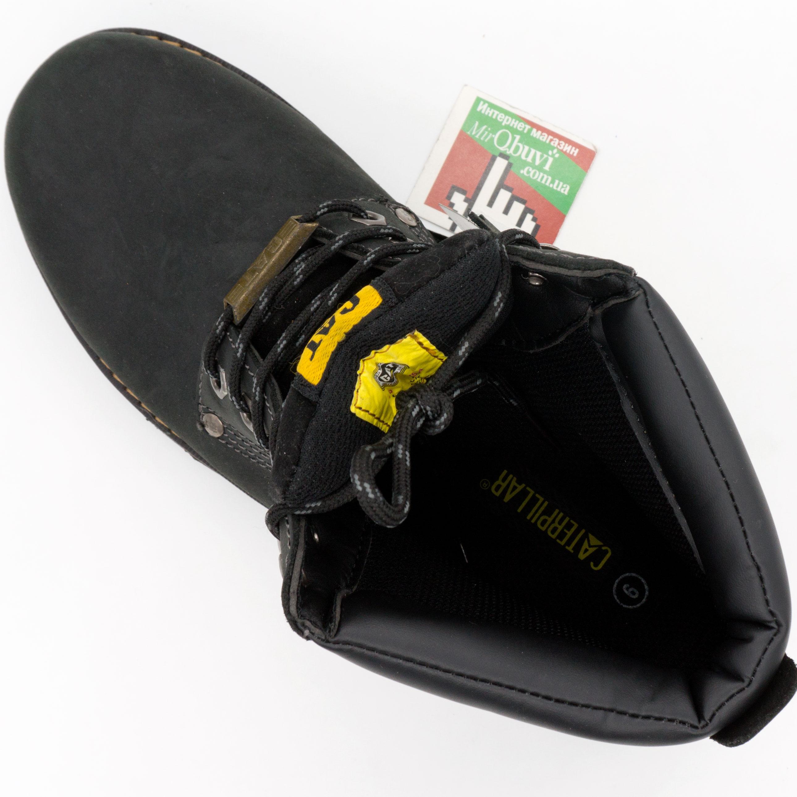 фото front Черные ботинки CAT (Катерпиллер) front