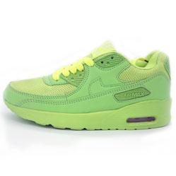 Женские кроссовки Nike Air Max 90 салатовые