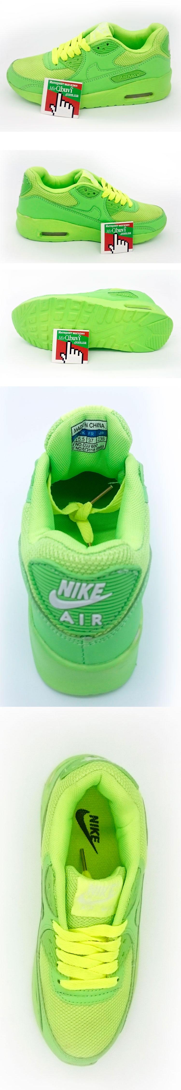 большое фото №5 Женские кроссовки Nike Air Max 90 салатовые