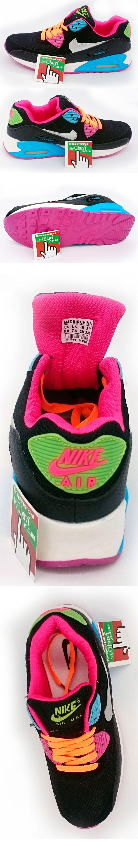 большое фото №5 Женские кроссовки Nike Air Max 90 черные с розовым
