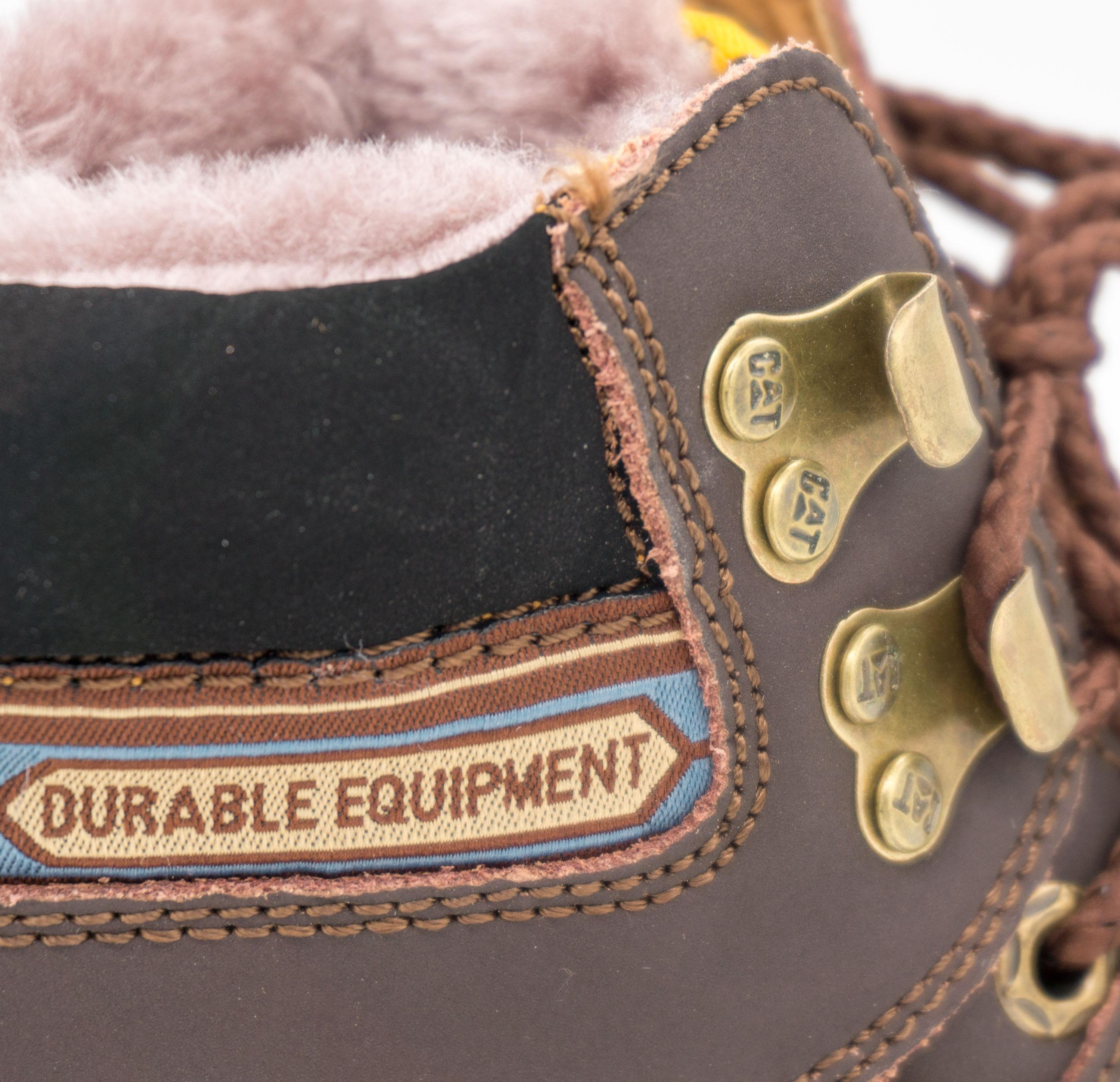 большое фото №5 Коричневые зимние женские ботинки CAT (катерпиллер) с мехом