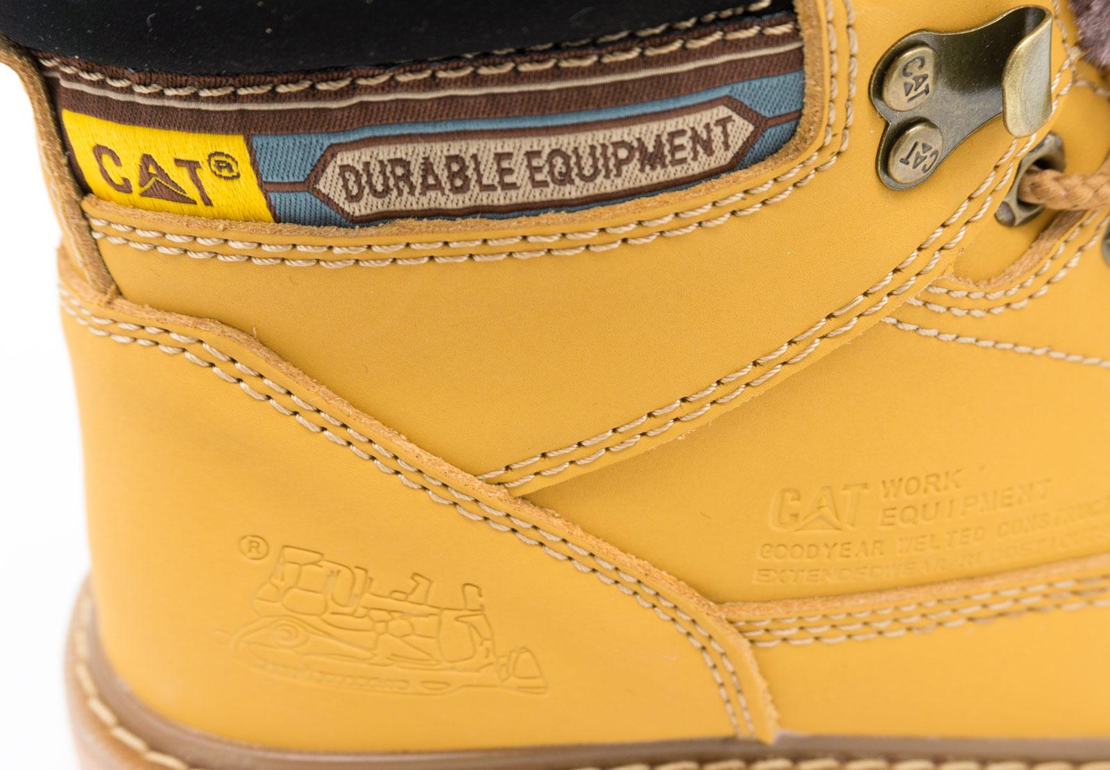 большое фото №5 Желтые зимние женские ботинки CAT(катерпиллер) с мехом
