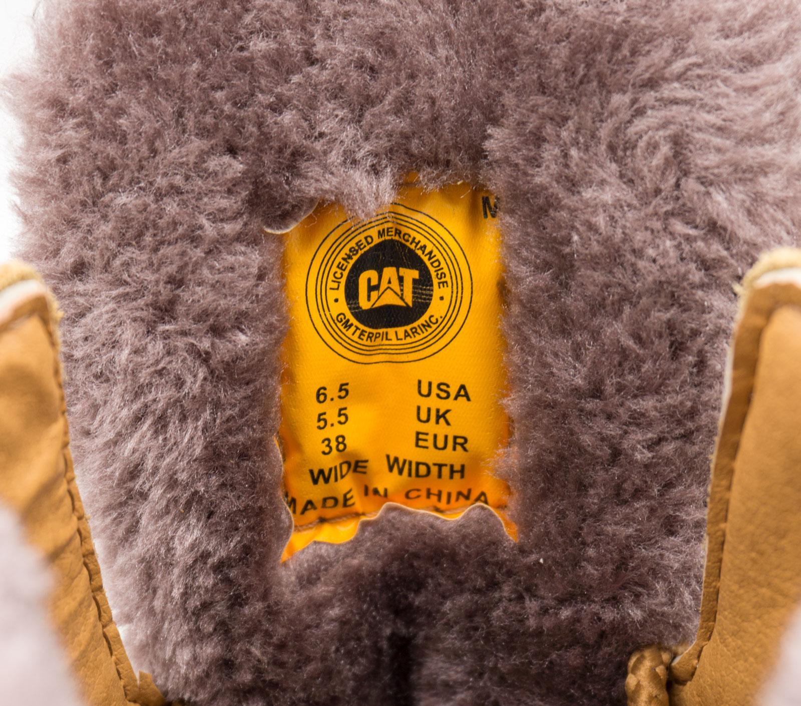 большое фото №6 Желтые зимние женские ботинки CAT(катерпиллер) с мехом