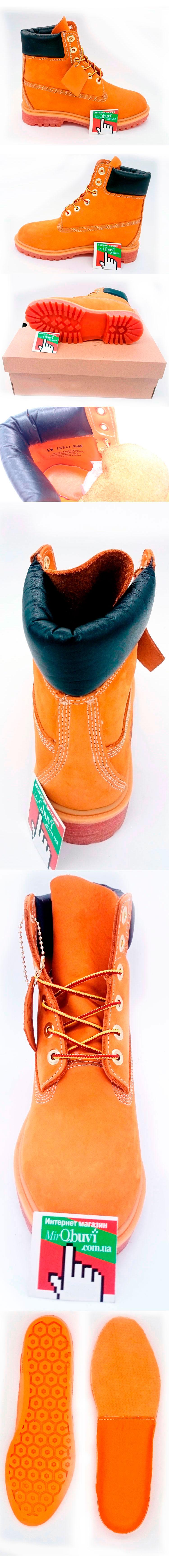 большое фото №5 Желтые ботинки Timberland 10361- Реплика Тимберленд