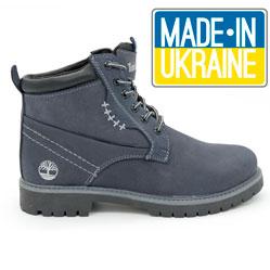 Женские синие ботинки Timberland 101 (сделано в Украине)