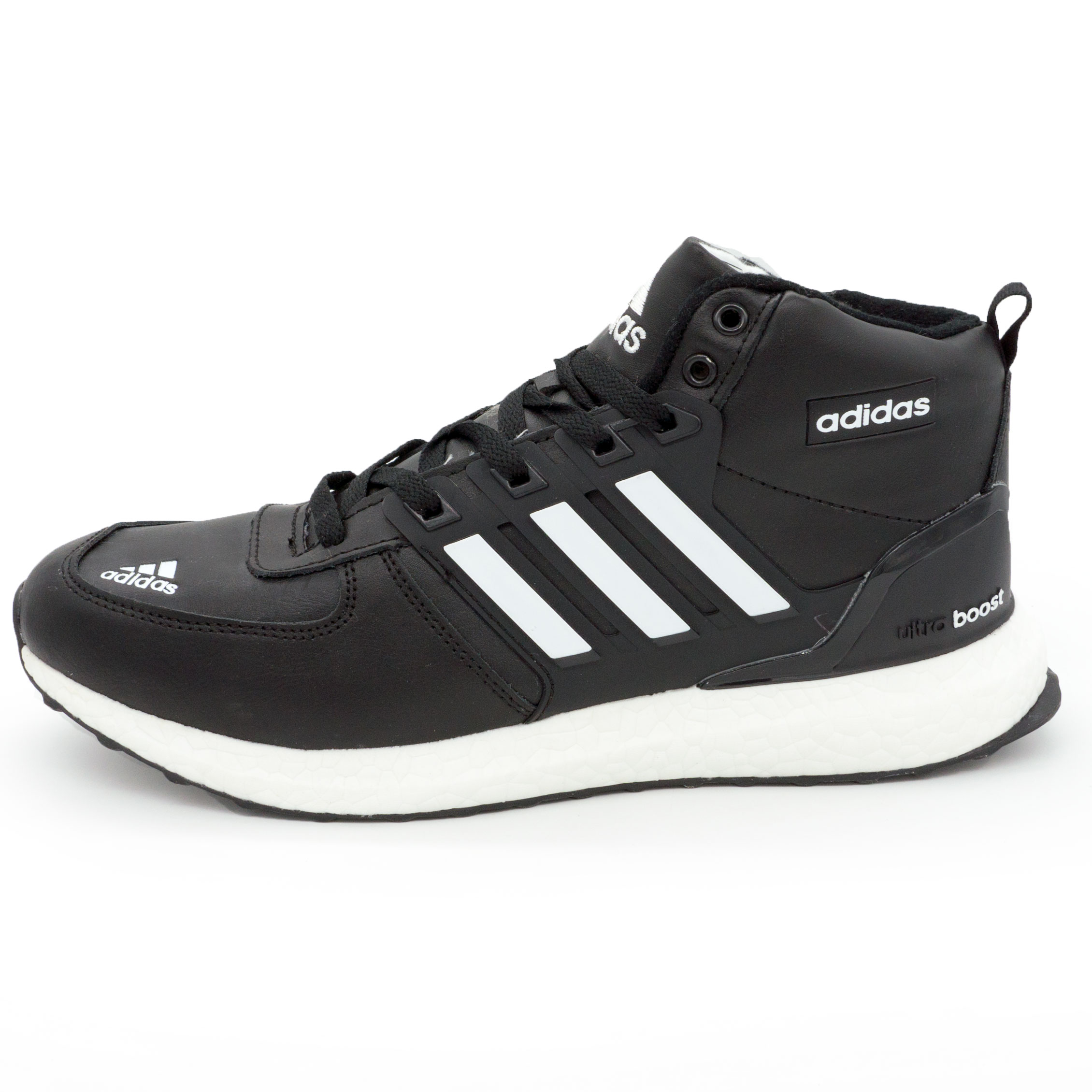 фото main Зимние мужские кроссовки Adidas Ultra boost черные с мехом main