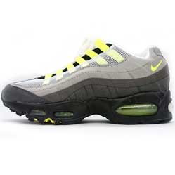 Кроссовки Nike air max 95 серые с салатовым. ТОП КАЧЕСТВО!!!