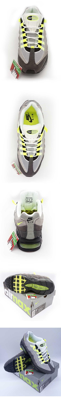 большое фото №5 Кроссовки Nike air max 95 серые с салатовым. ТОП КАЧЕСТВО!!!