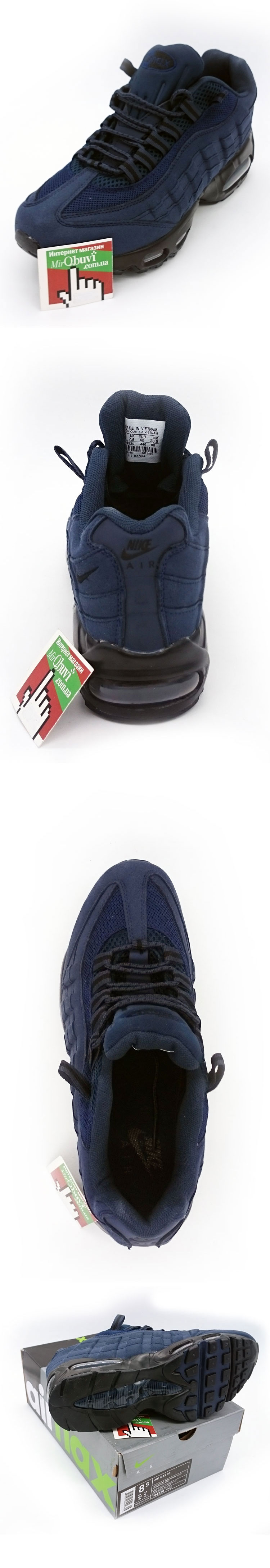 большое фото №5 Мужские кроссовки Nike air max 95 темно синие. ТОП КАЧЕСТВО!!!