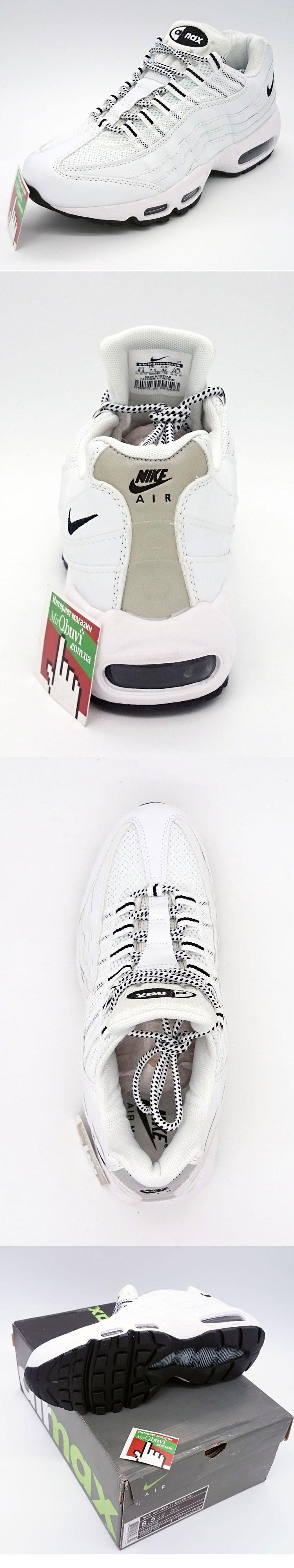 большое фото №6 Кроссовки Nike air max 95 белые. ТОП КАЧЕСТВО!!!