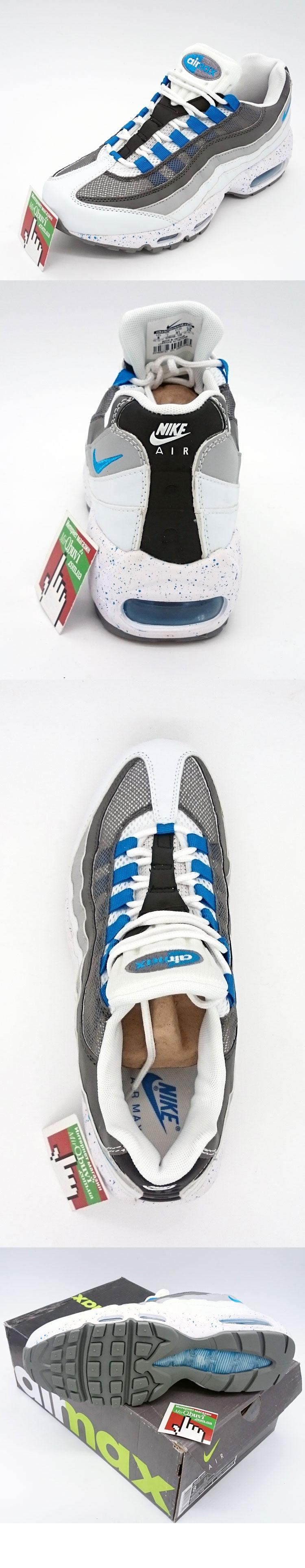 большое фото №5 Мужские кроссовки Nike air max 95 бело синие в крапинку. ТОП КАЧЕСТВО!!!
