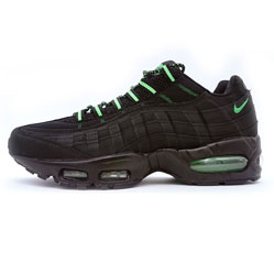 Nike air max 95  черные с зеленым