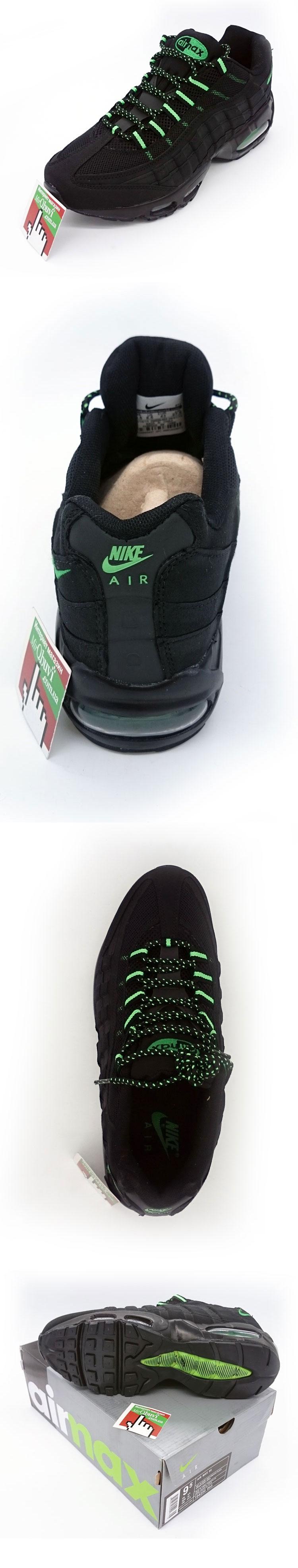 большое фото №5 Мужские кроссовки Nike air max 95  черные с зеленым. ТОП КАЧЕСТВО!!!