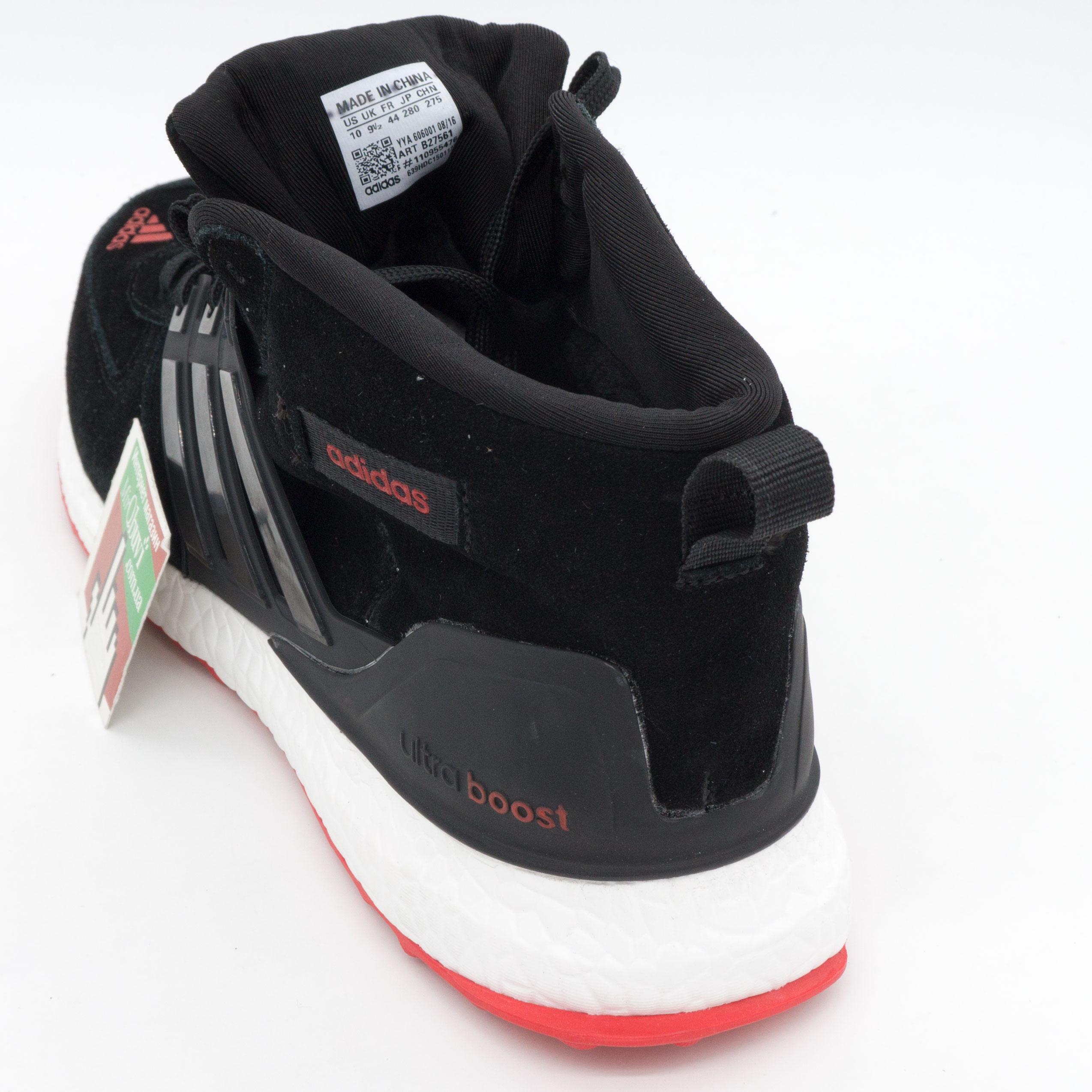 фото back Зимние кроссовки Adidas Ultra Boost черные с красным Топ качество back
