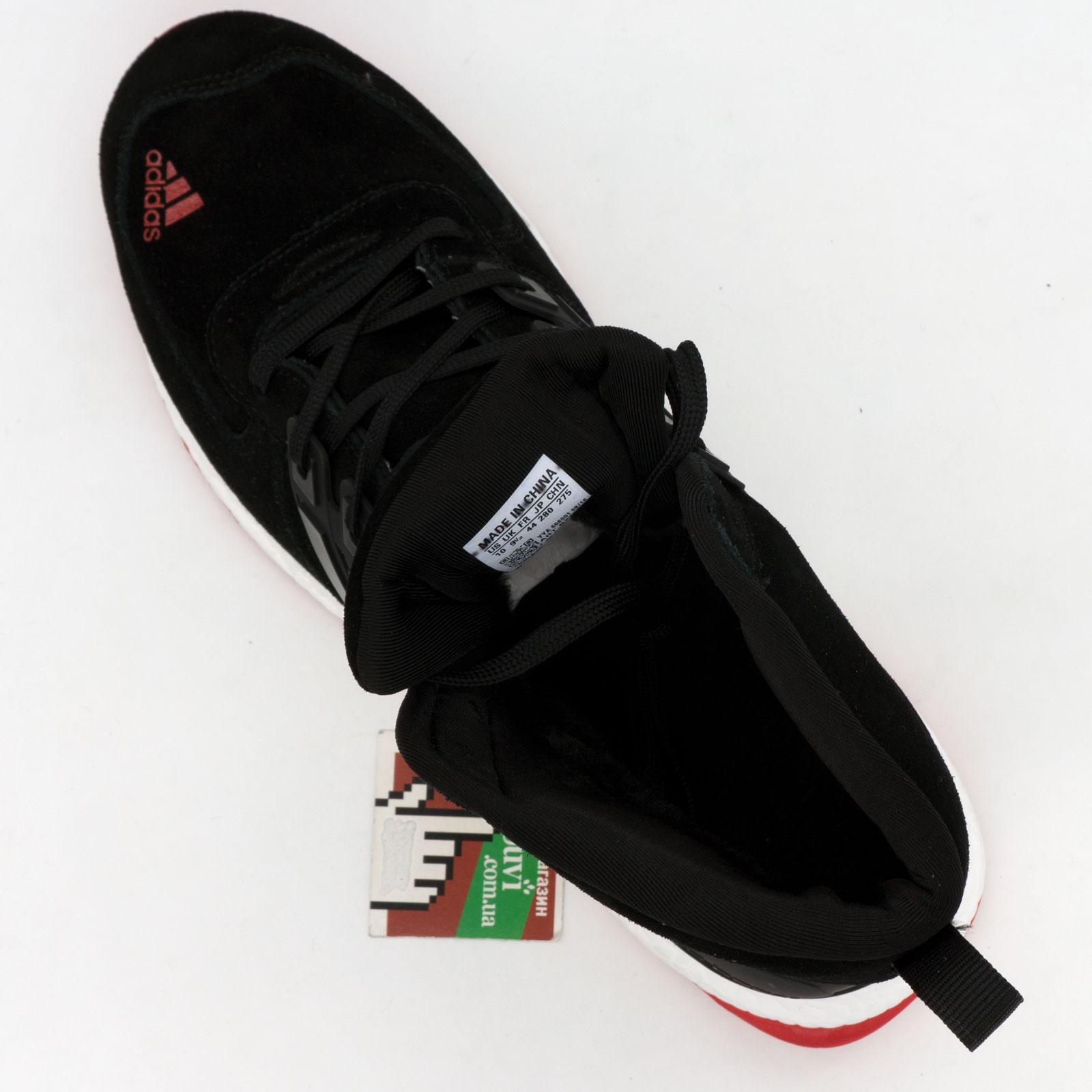 большое фото №5 Зимние кроссовки Adidas Ultra Boost черные с красным Топ качество