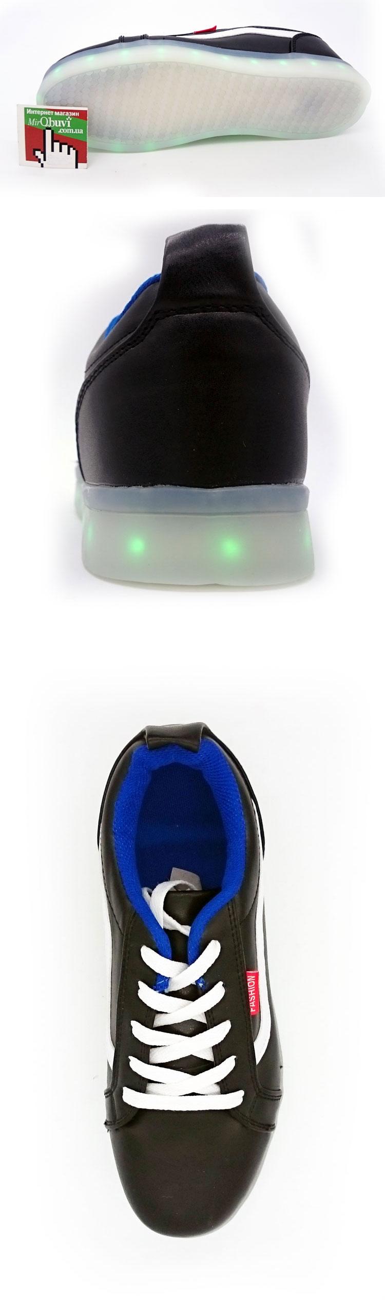 большое фото №5 Светящиеся кроссовки LED old skool