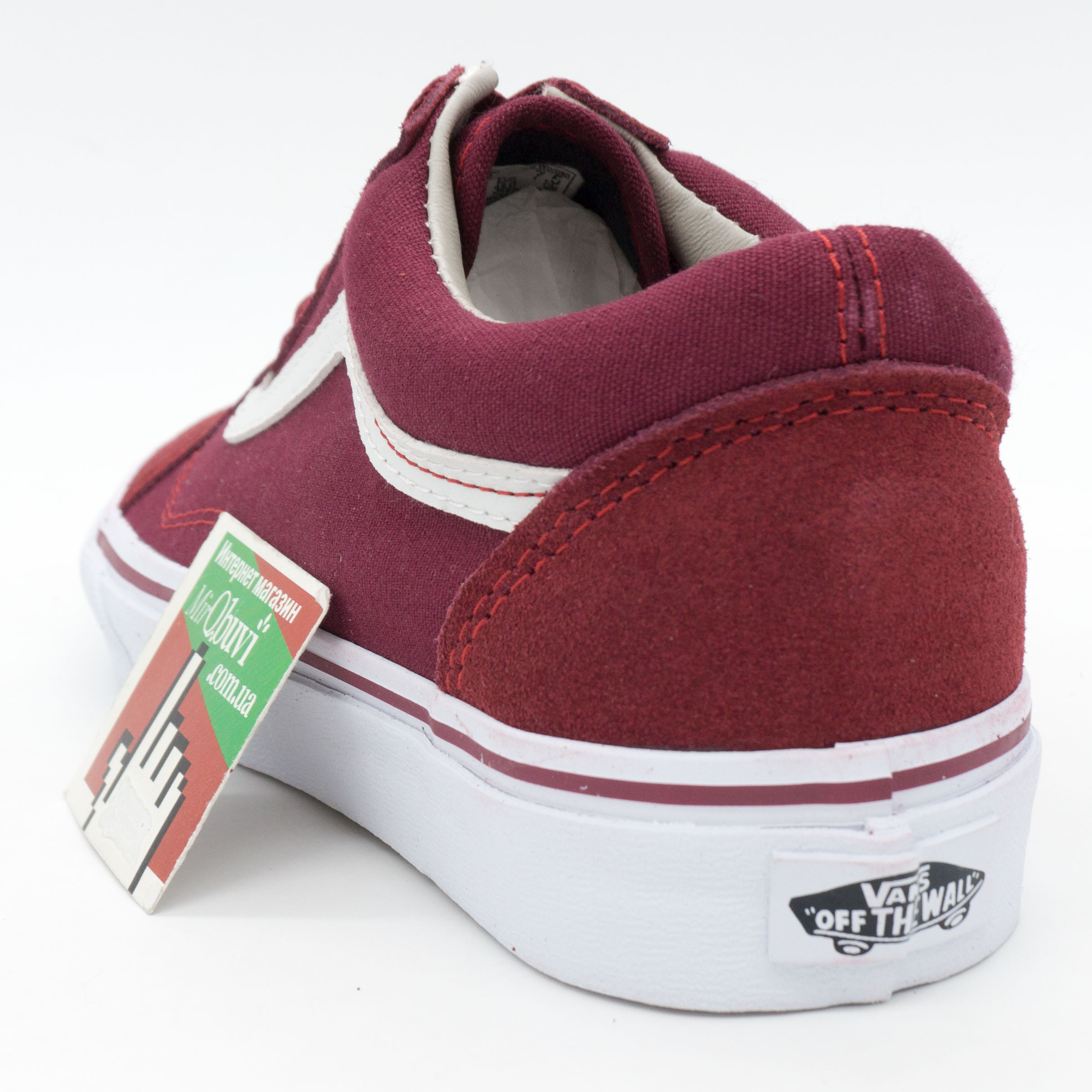 ... фото back Vans old skool Венс олд скул бордовые 2662cfcdc3775