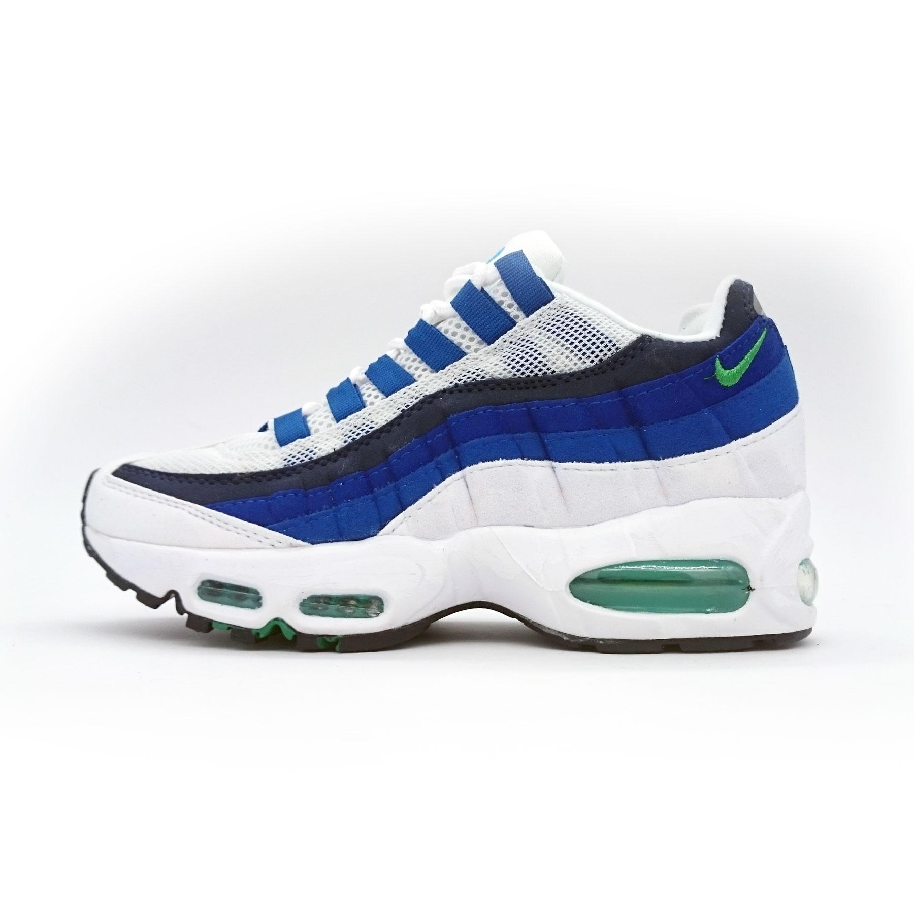 фото main Женские кроссовки Nike air max 95 Бело Синие. ТОП КАЧЕСТВО!!! main