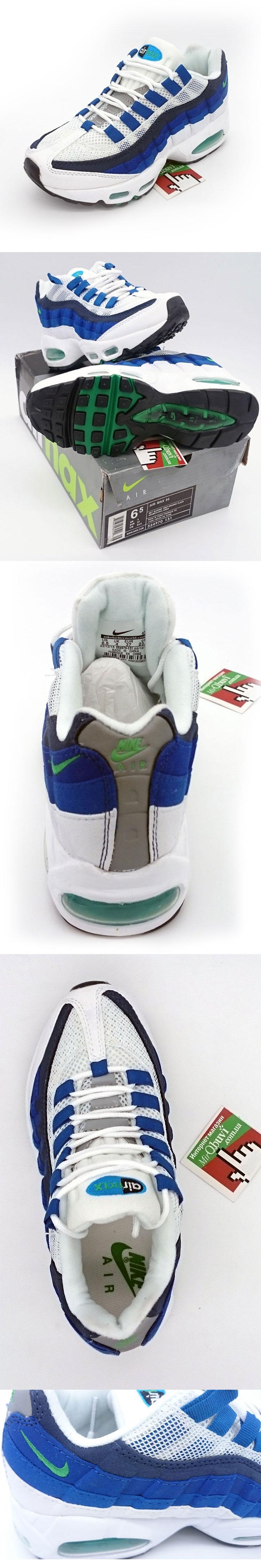 большое фото №5 Женские кроссовки Nike air max 95 Бело Синие. ТОП КАЧЕСТВО!!!