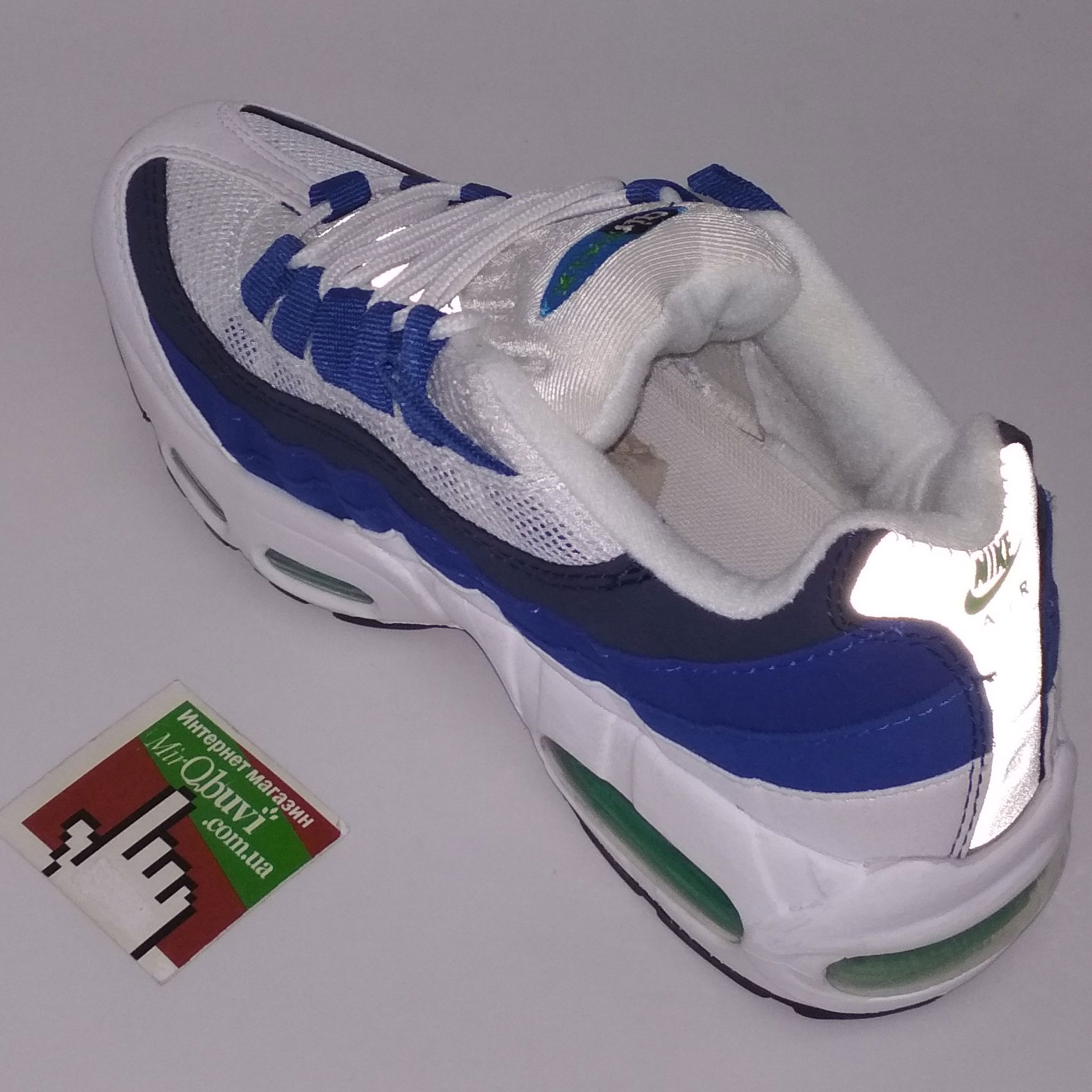 большое фото №6 Женские кроссовки Nike air max 95 Бело Синие. ТОП КАЧЕСТВО!!!