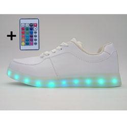 Светящиеся кроссовки Led низкие с пультом