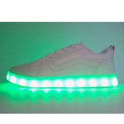 Светящиеся кроссовки LED old skool белые