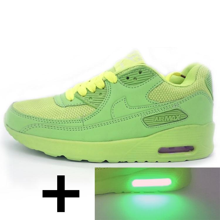 фото main Светящиеся кроссовки led air max 90 салатовые  main