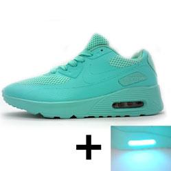Светящиеся кроссовки led air max 90 бирюзовые