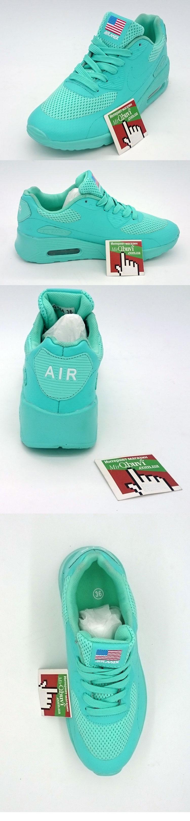 большое фото №5 Светящиеся кроссовки led air max 90 бирюзовые
