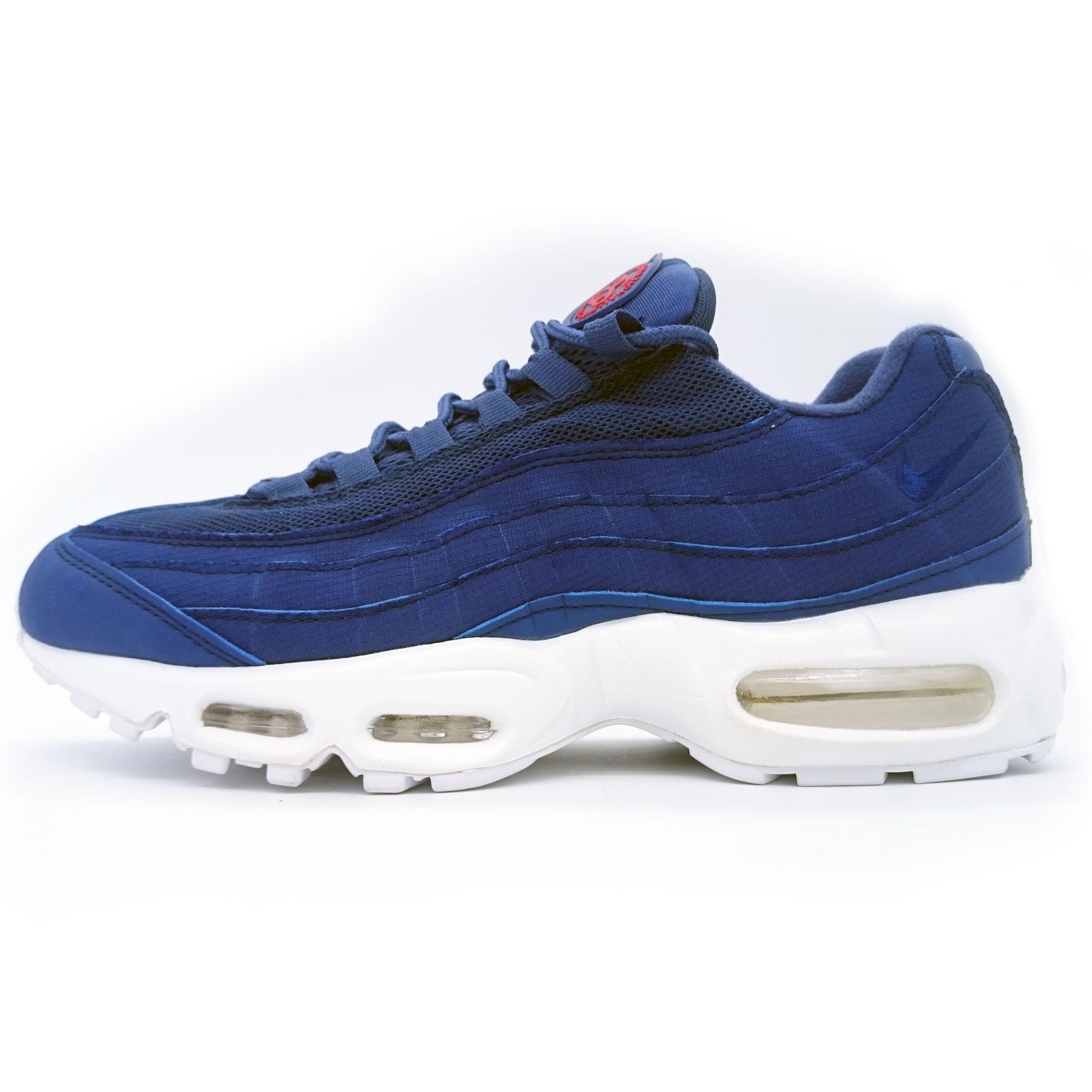 18001eb0 Мужские кроссовки Nike air max 95 Сине белые, купить аир макс 95 в ...