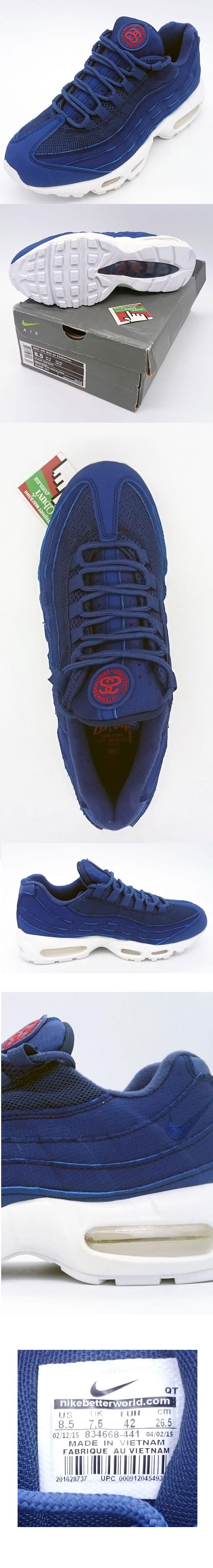 большое фото №5 Мужские кроссовки Nike air max 95 Сине белые. ТОП КАЧЕСТВО!!!