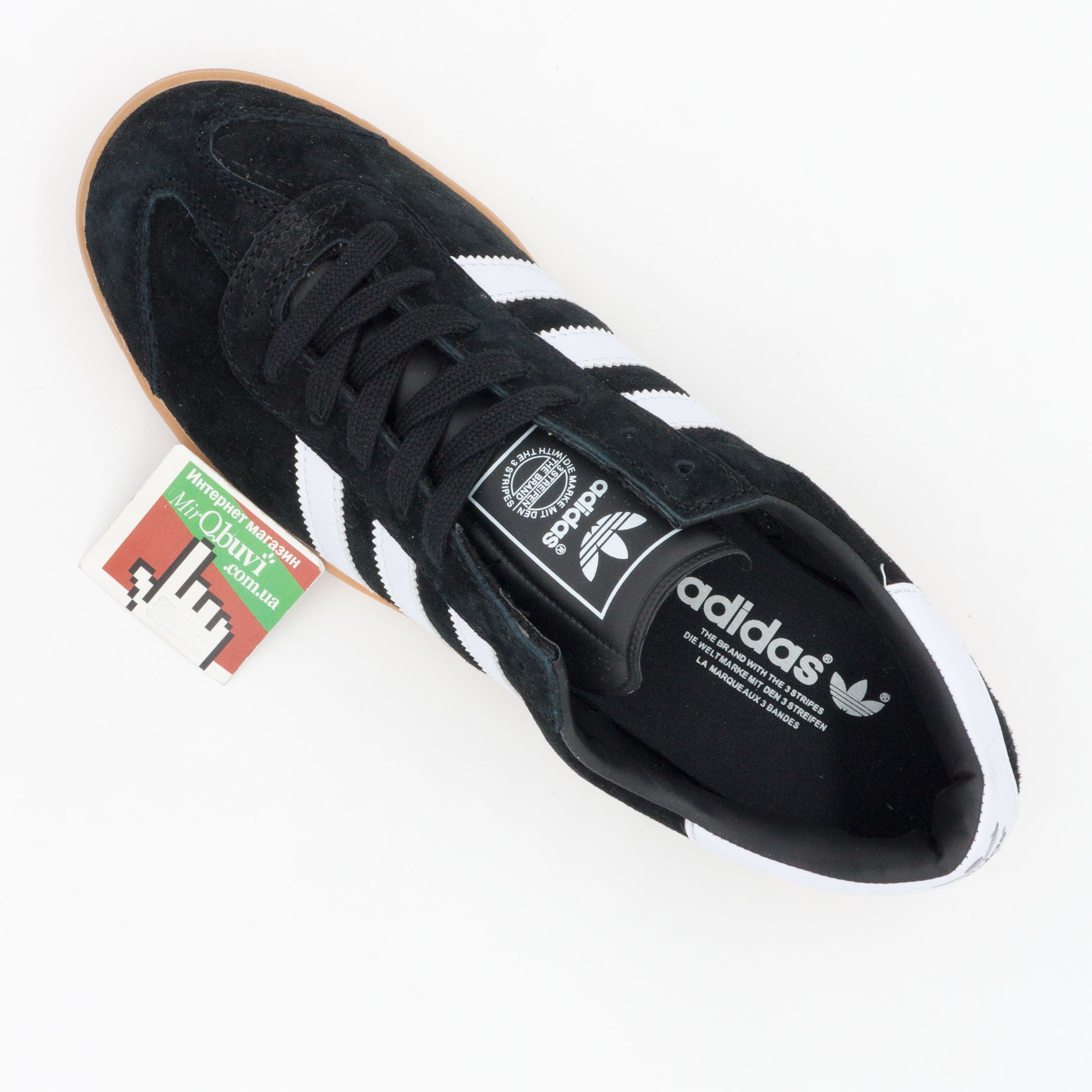 фото back Кроссовки Adidas Hamburg черные - Натуральная замша - Топ качество! back