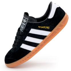 Кроссовки Adidas Hamburg черные - Натуральная замша - Топ качество!