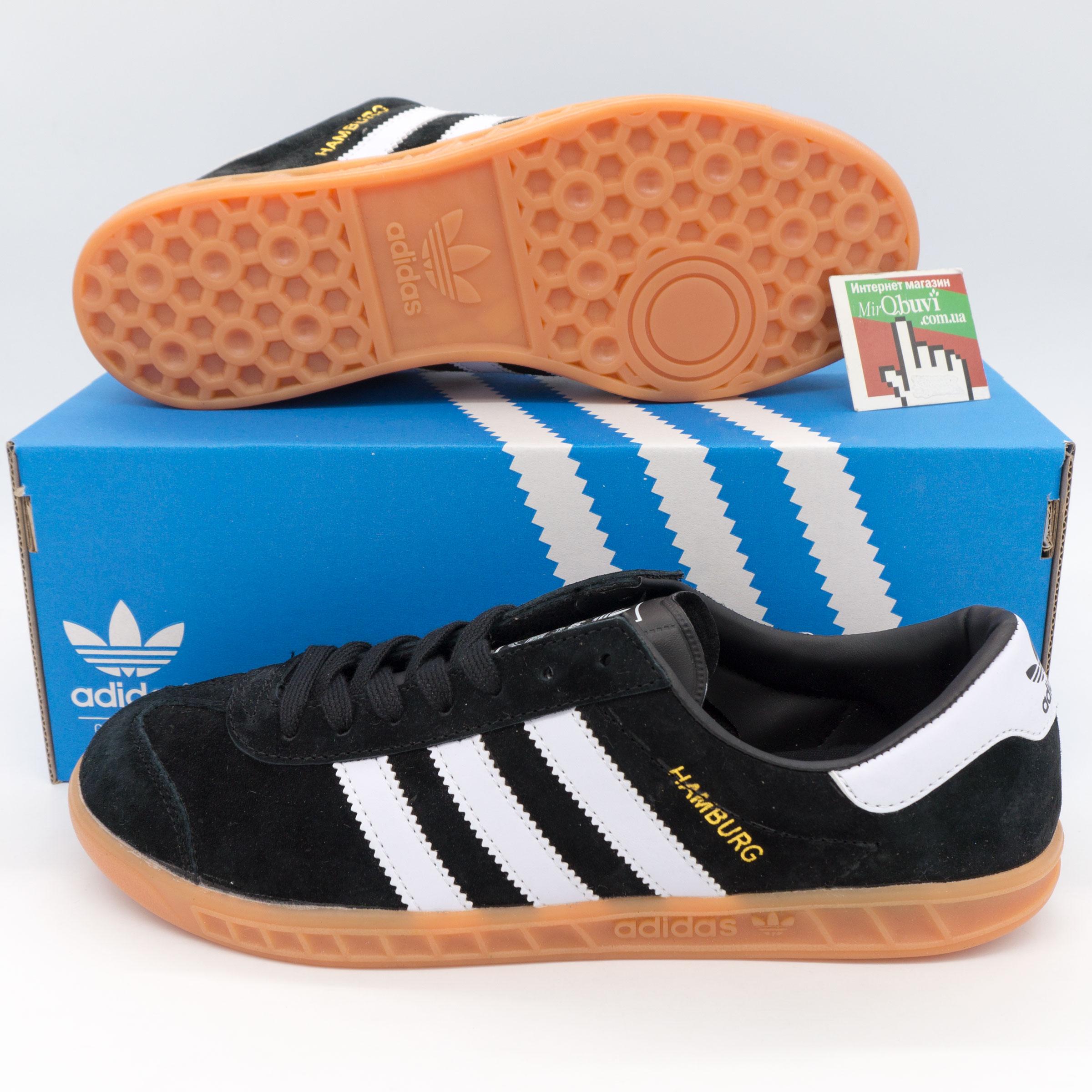 большое фото №6 Кроссовки Adidas Hamburg черные - Натуральная замша - Топ качество!