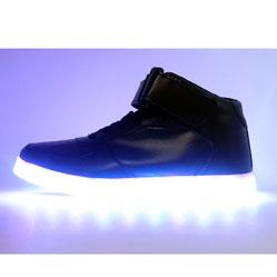 Светящиеся кроссовки Led черные