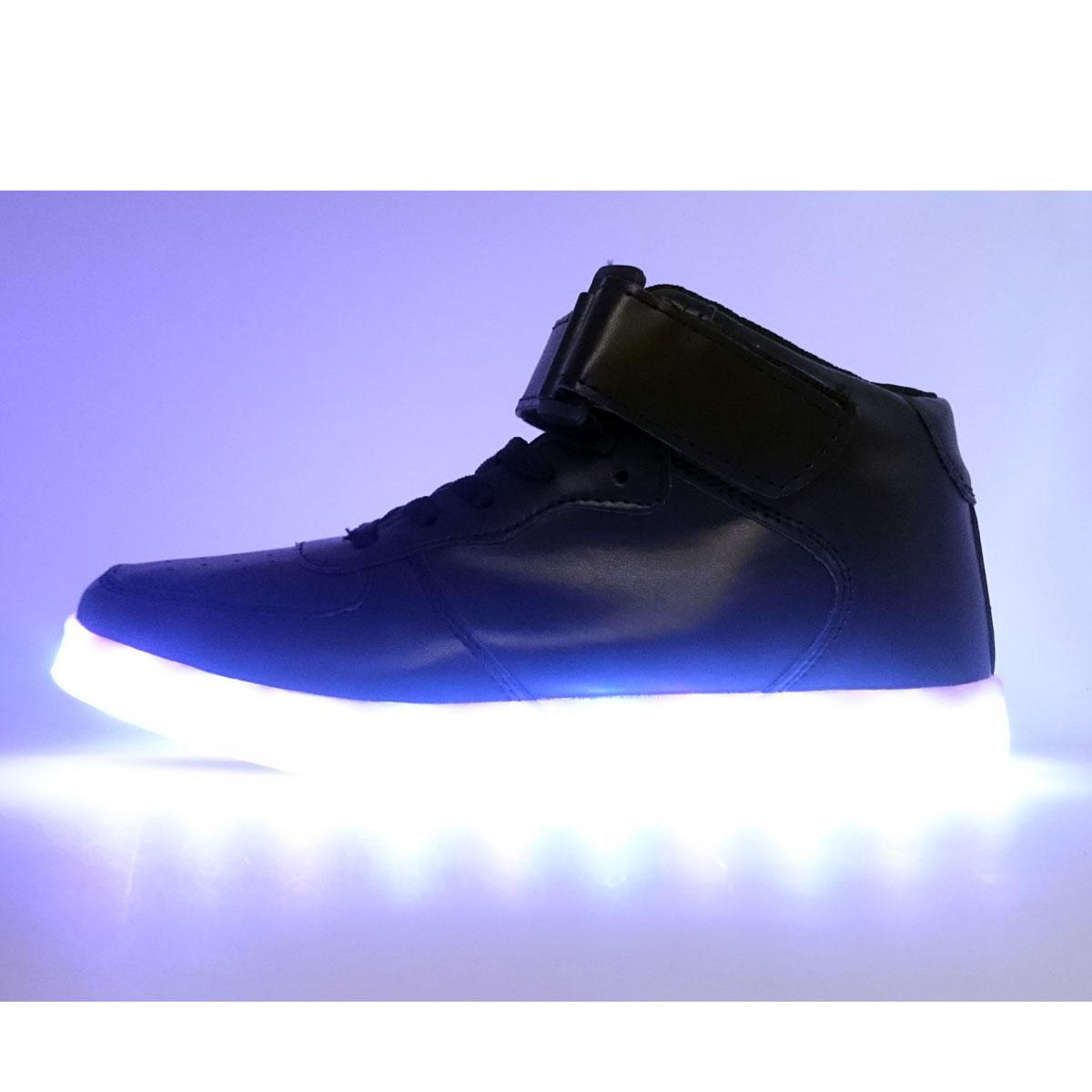 фото main Светящиеся кроссовки Led черные main