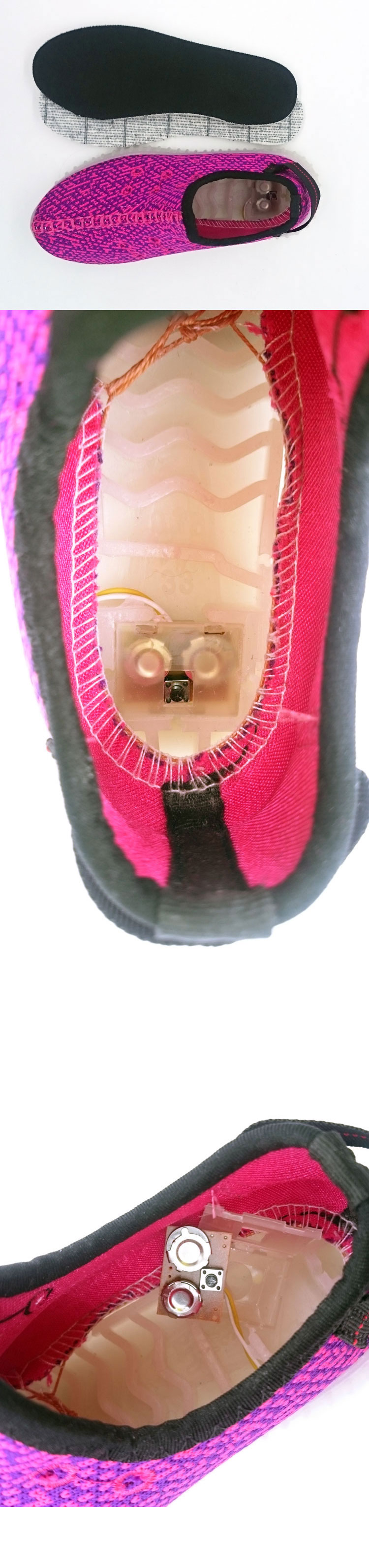 большое фото №5 Детские бордовые светящиеся кроссовки с кнопкой на пятке