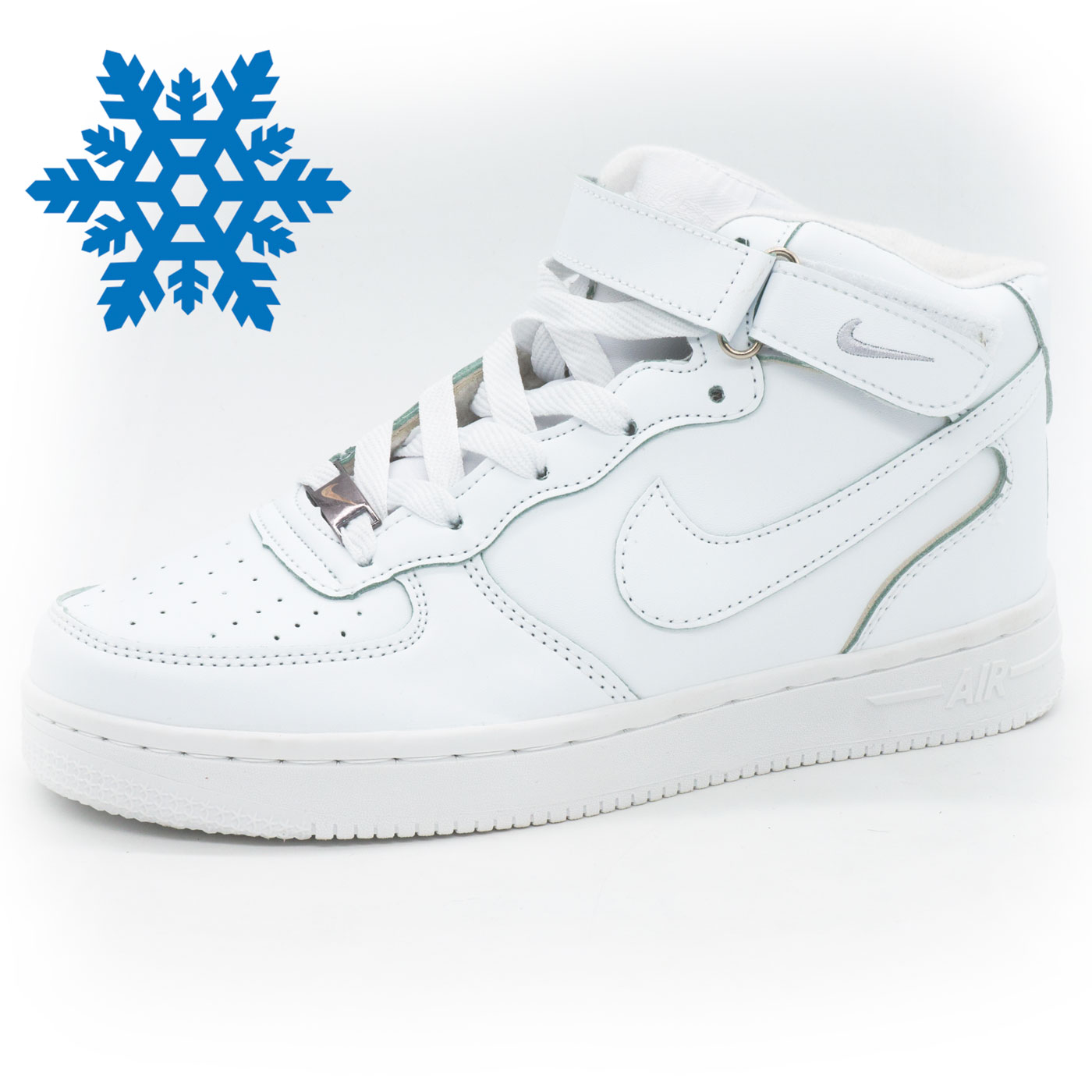 фото main Зимние высокие белые кроссовки Nike Air Force  main