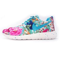 Nike Roshe Run в цветочек бирюзовый