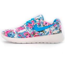Nike Roshe Run в цветочек синие